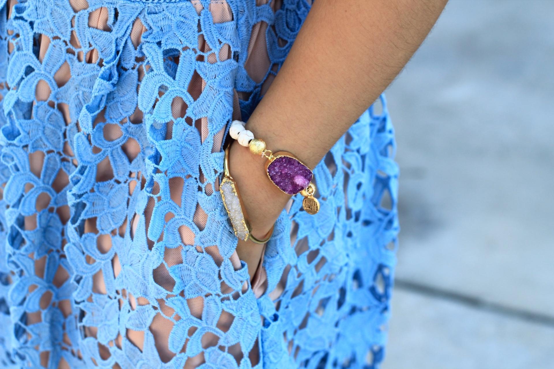 Geode Druzy Marble Bracelet
