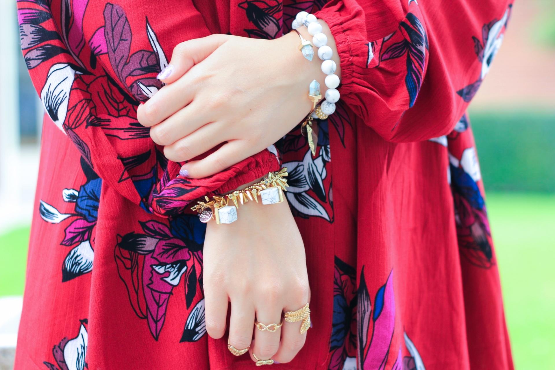 marble geometric cuff bracelet