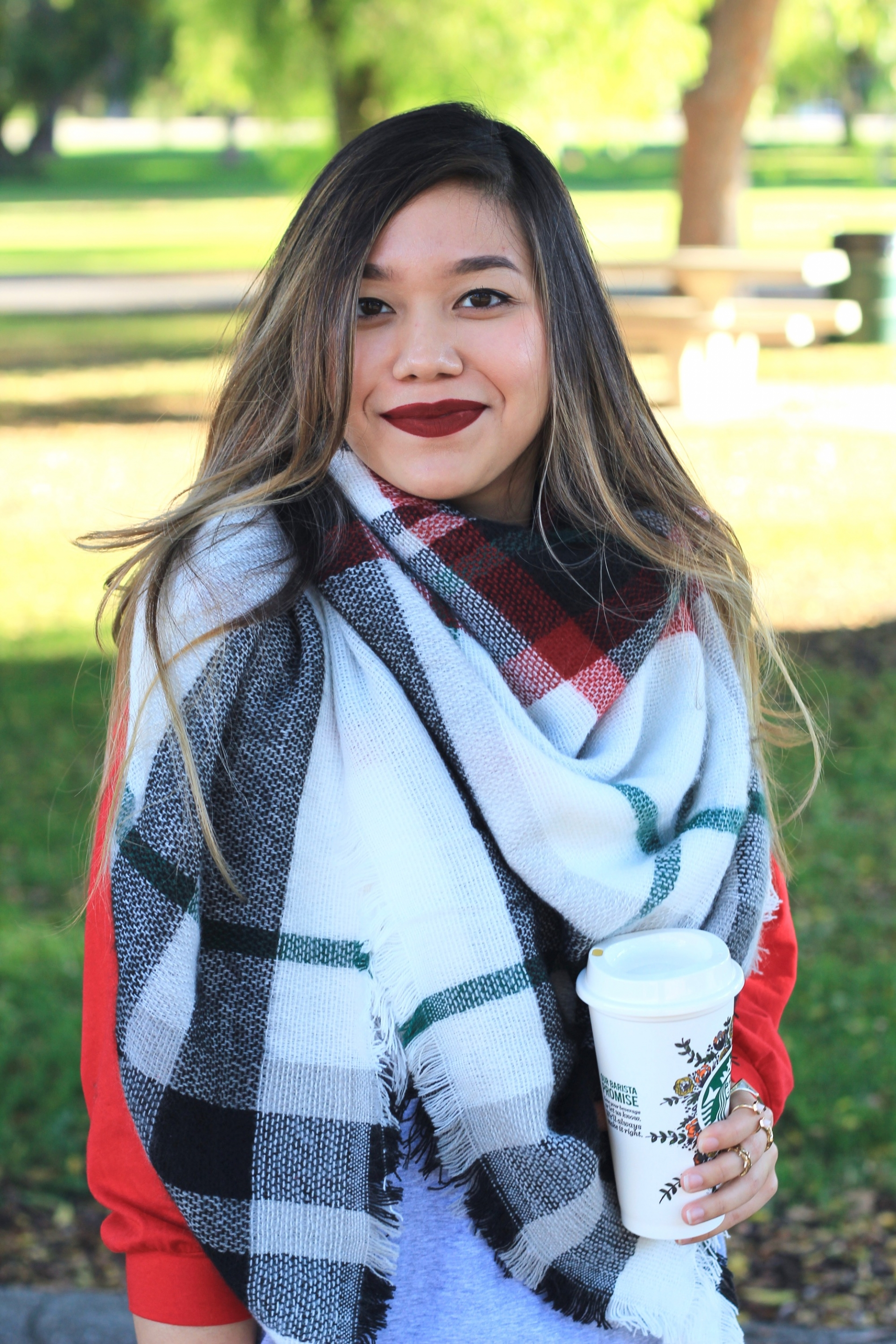 Plaid Scarf Fall