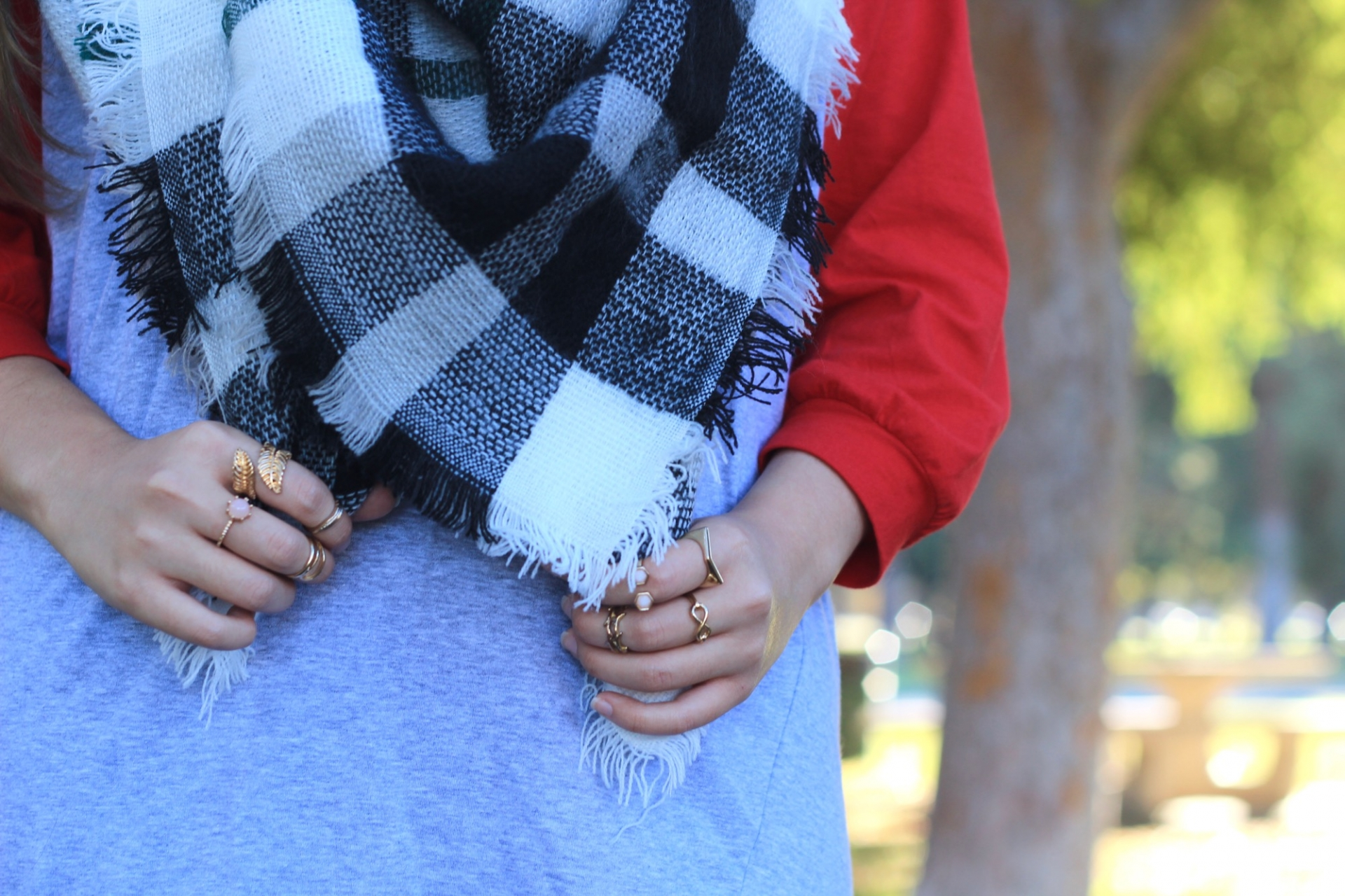Shop The Mint Blanket Scarf