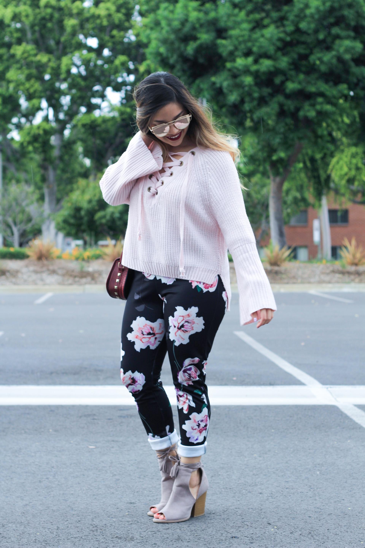 boohoo floral print pants