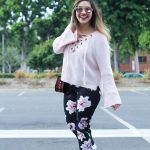 zaful lace up sweater bell sleeve