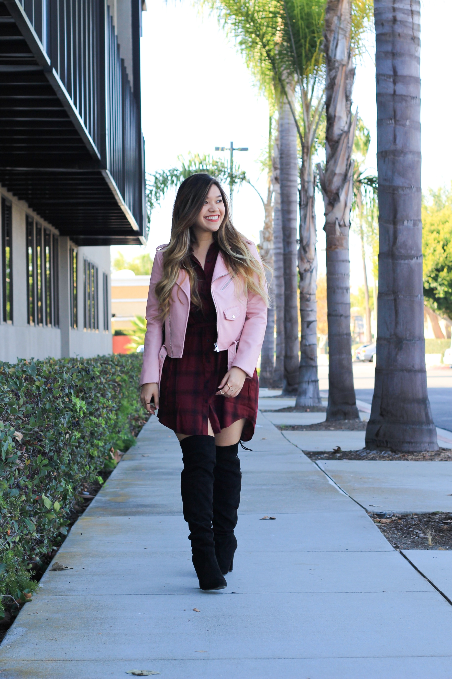 Zara Pink Faux Leather Jacket