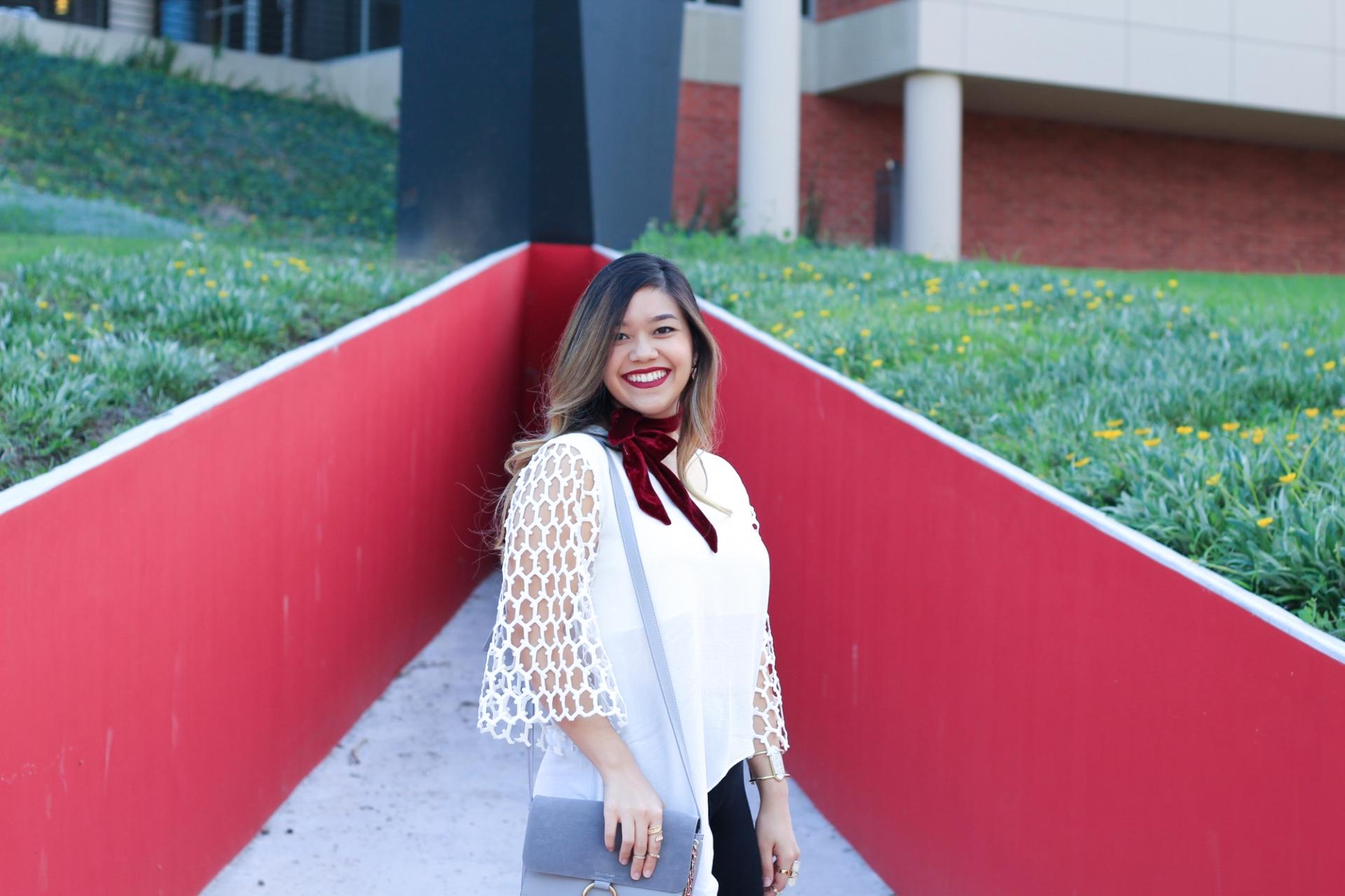 Red Velvet Scarf