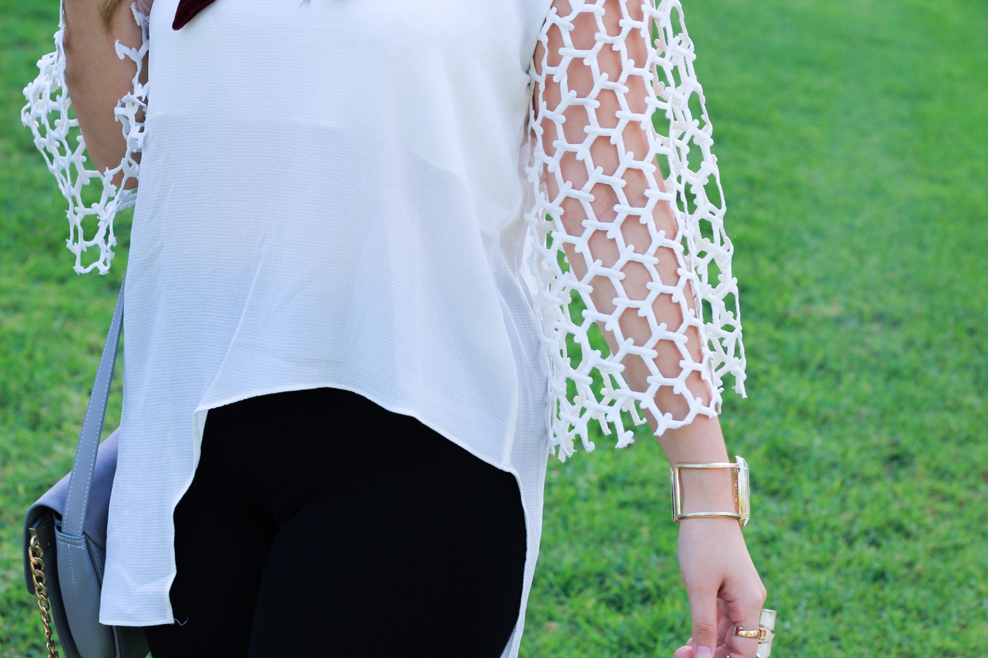 Asymmetrical Cutout Top