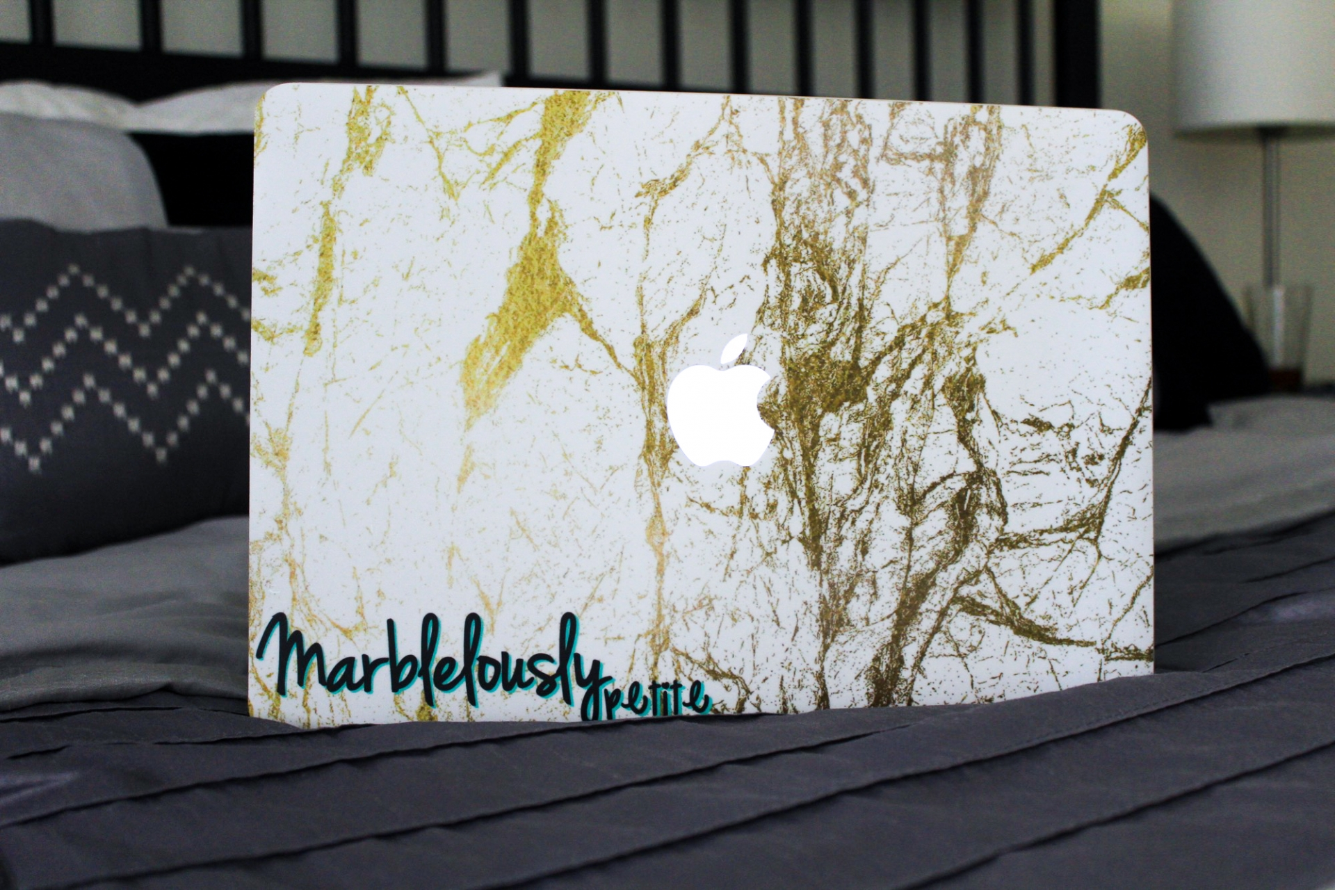 Caseapp Gold and White MacBook Skin