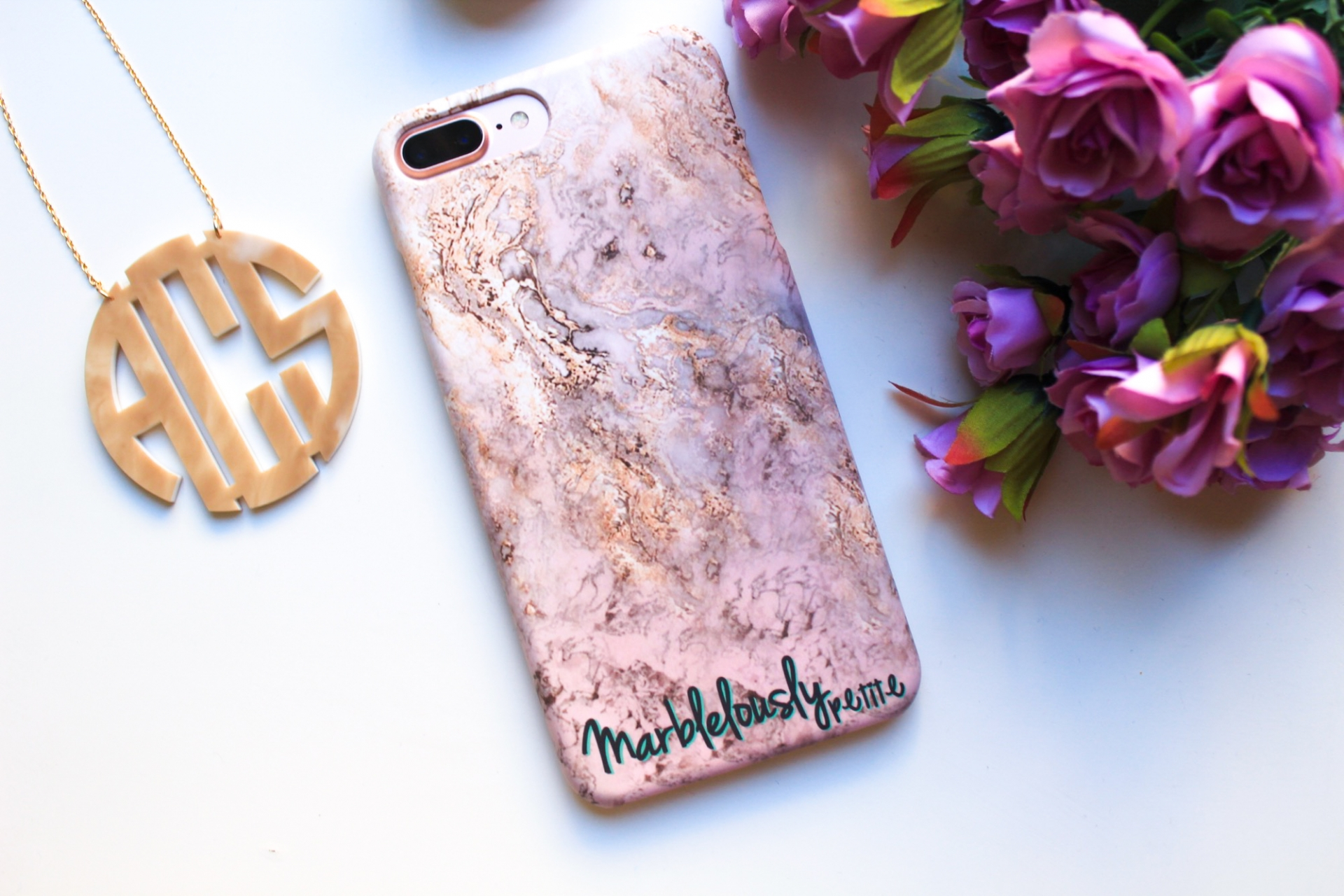 Caseapp Pink and Gold iPhone case