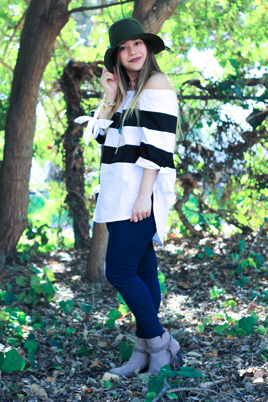 OTS Monochrome Stripe Blouse