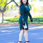 sweater dress lace bell sleeves