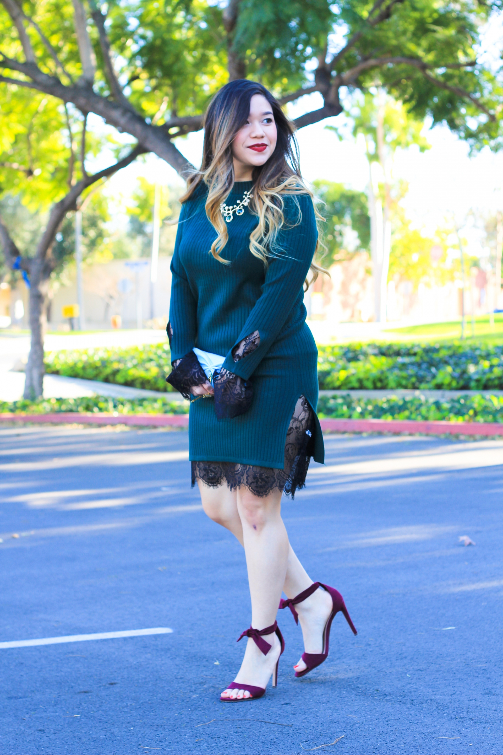 zaful sweater dress lace