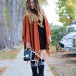 Rust Fringe Sweater Shawl