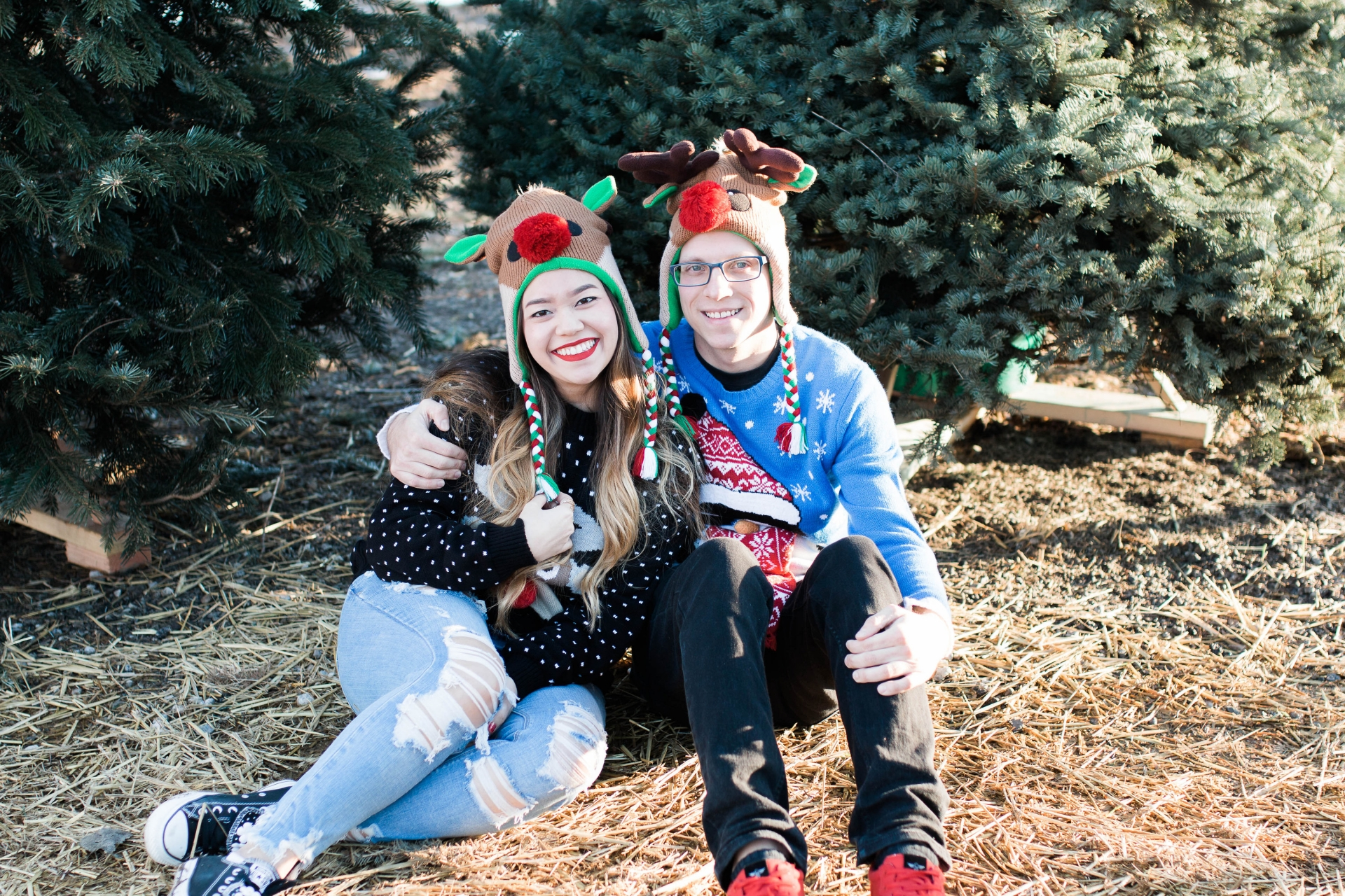 Cute Couple Reindeer Beanies