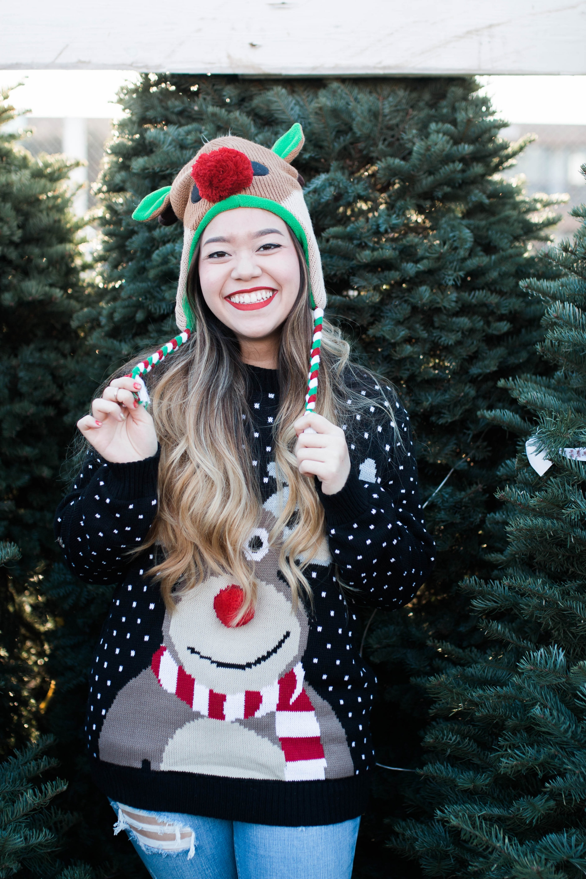 Cute Christmas Reindeer Sweater