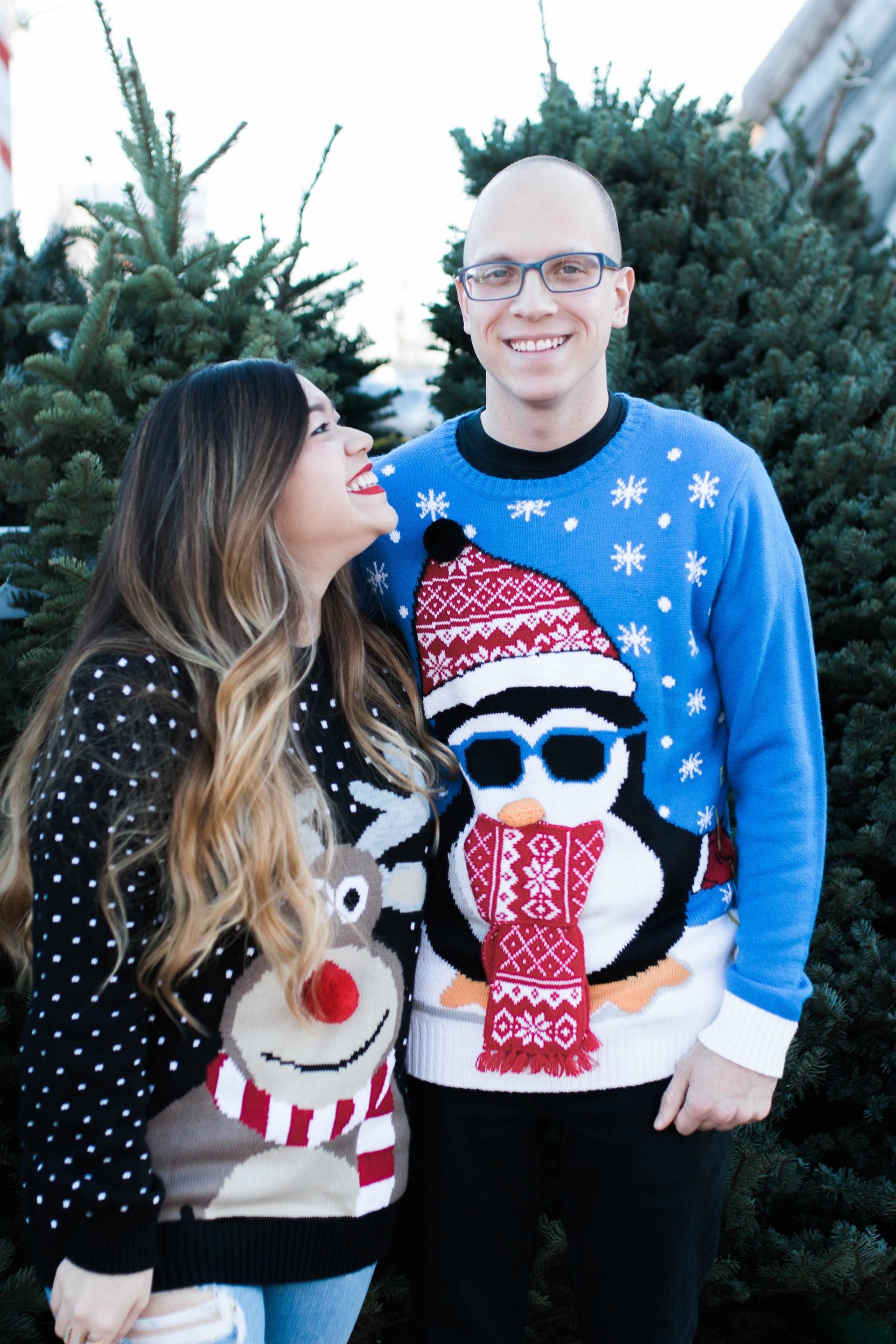 Ugly Christmas Sweaters Couple