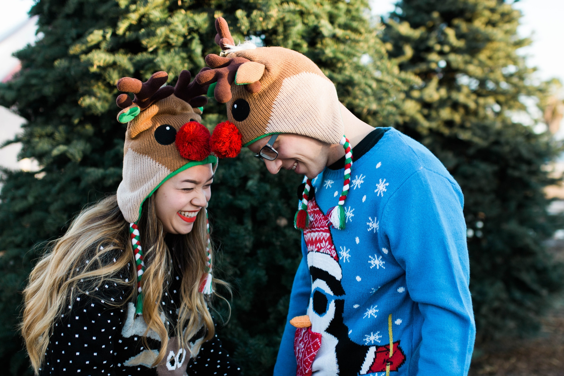 Adorable Christmas Couple Shot