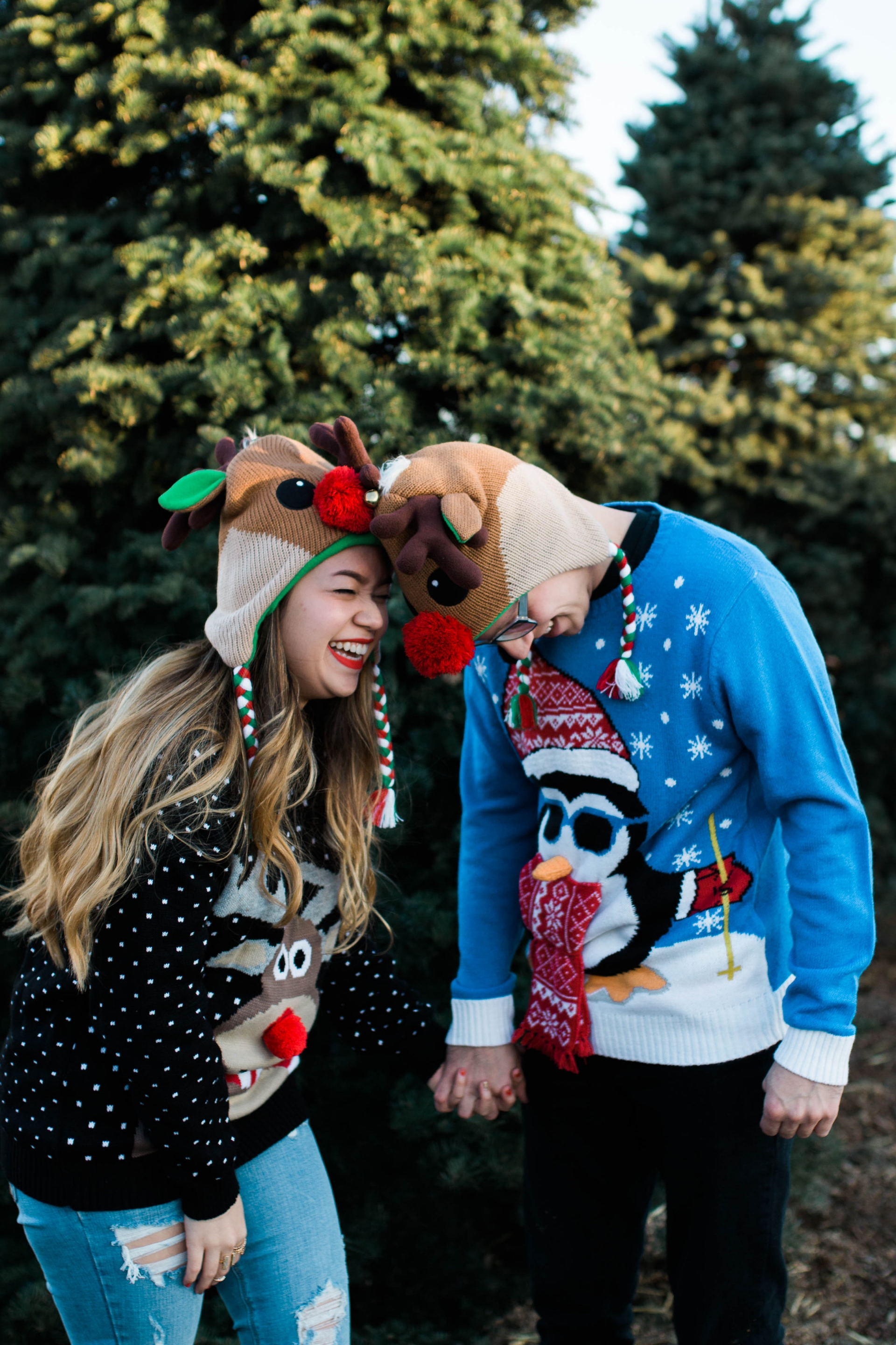 Funny Christmas Couple Shot