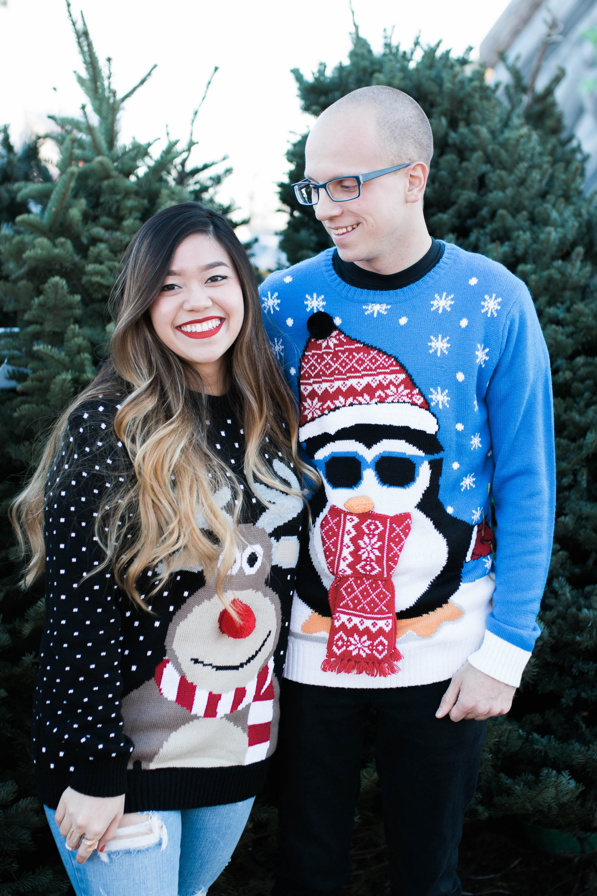 Ugly Christmas Sweater Couple Ideas