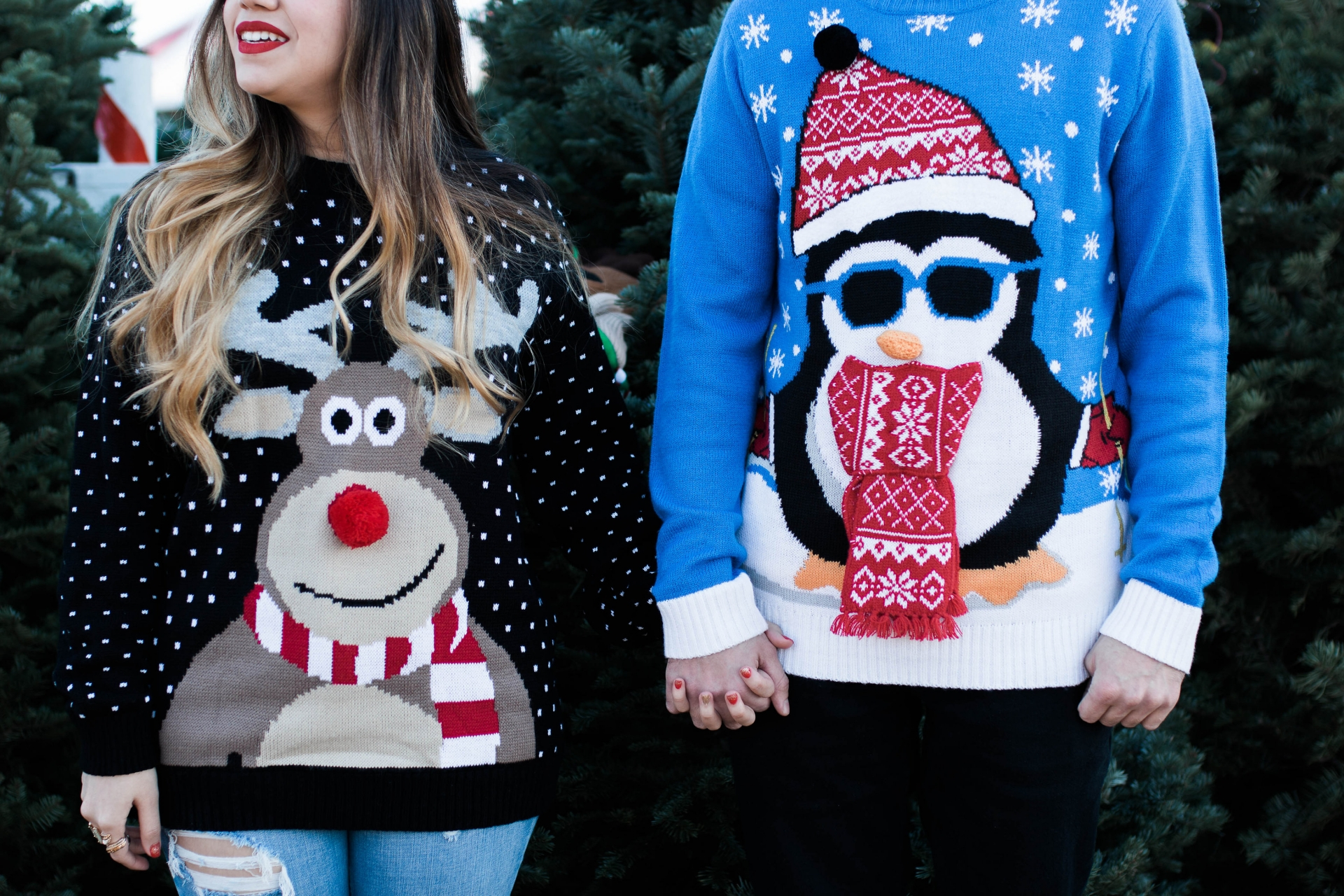 Ugly Christmas Sweater Couples