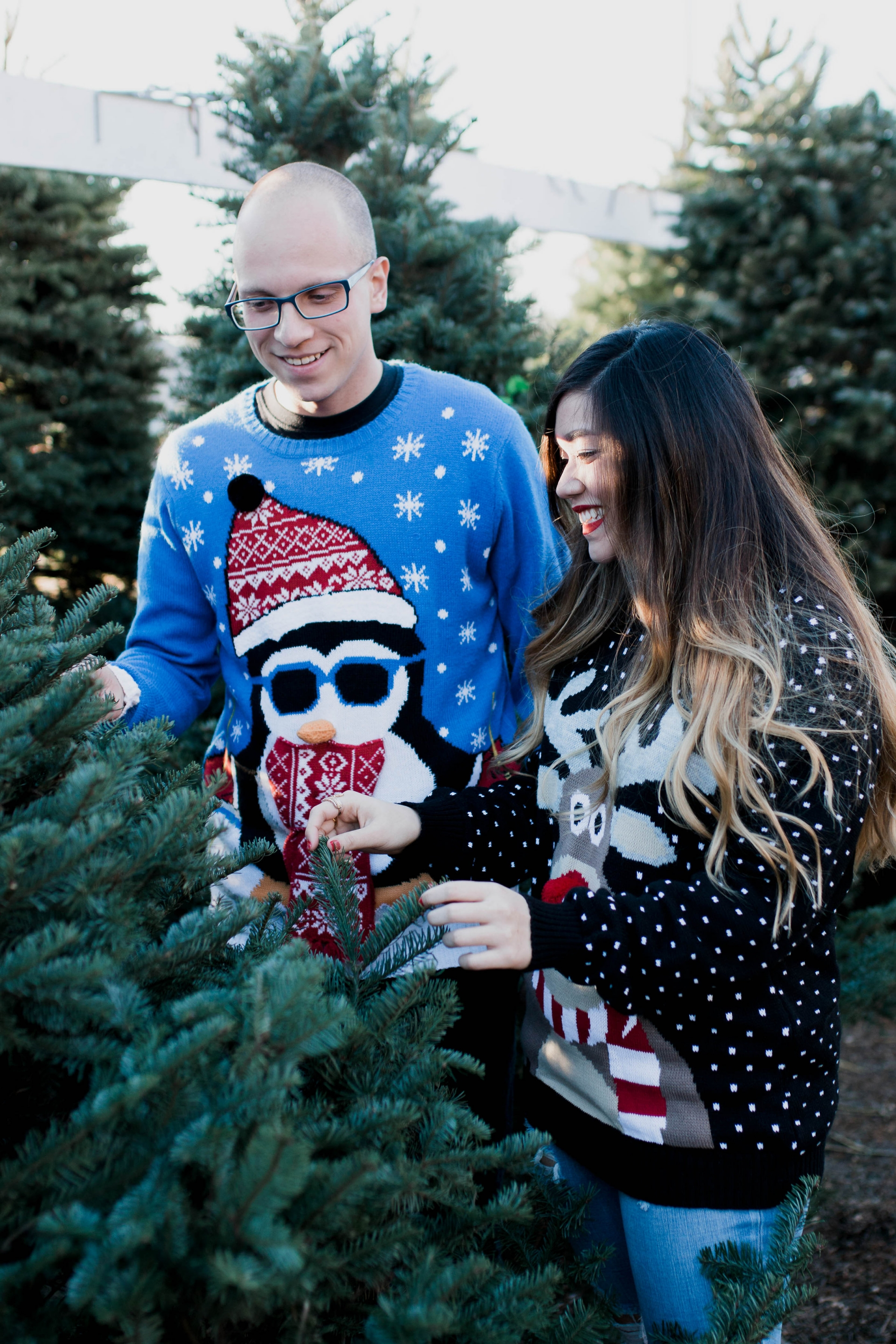Christmas Tree Farm Couple