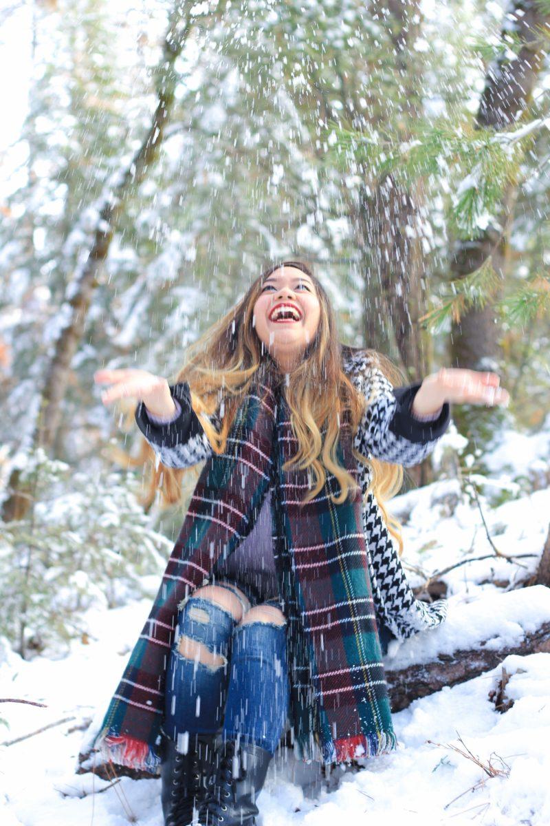 Cute Throwing Snow