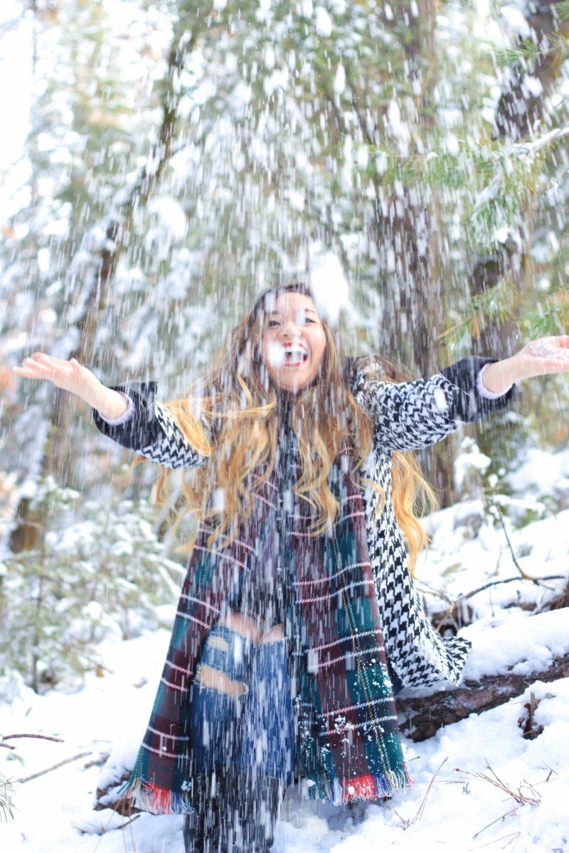 Fun Throwing Snow