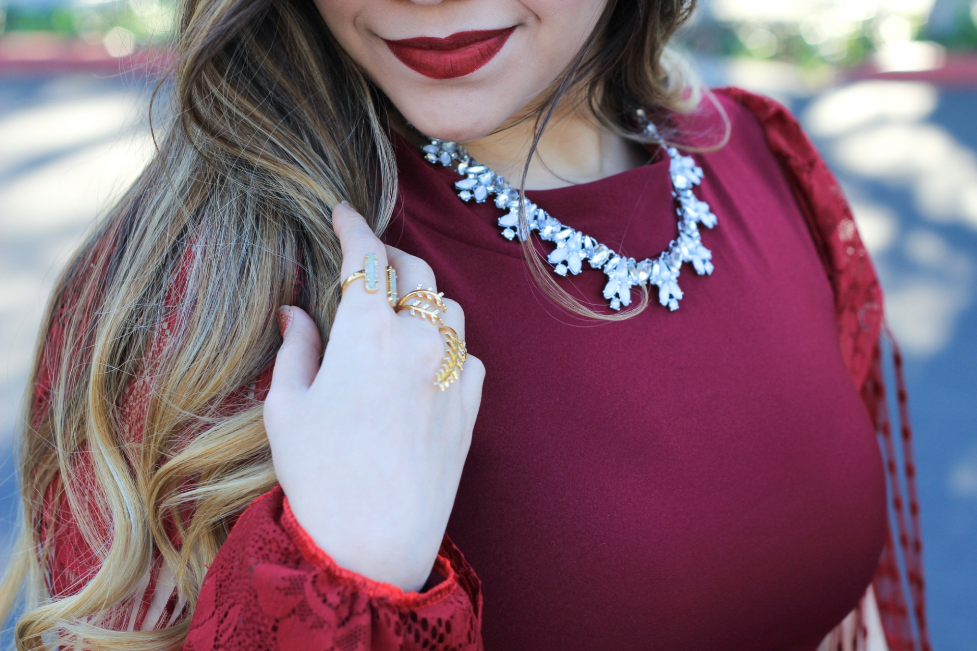 colourpop bichette baublebar necklace
