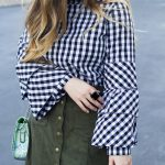gingham tiered sleeves