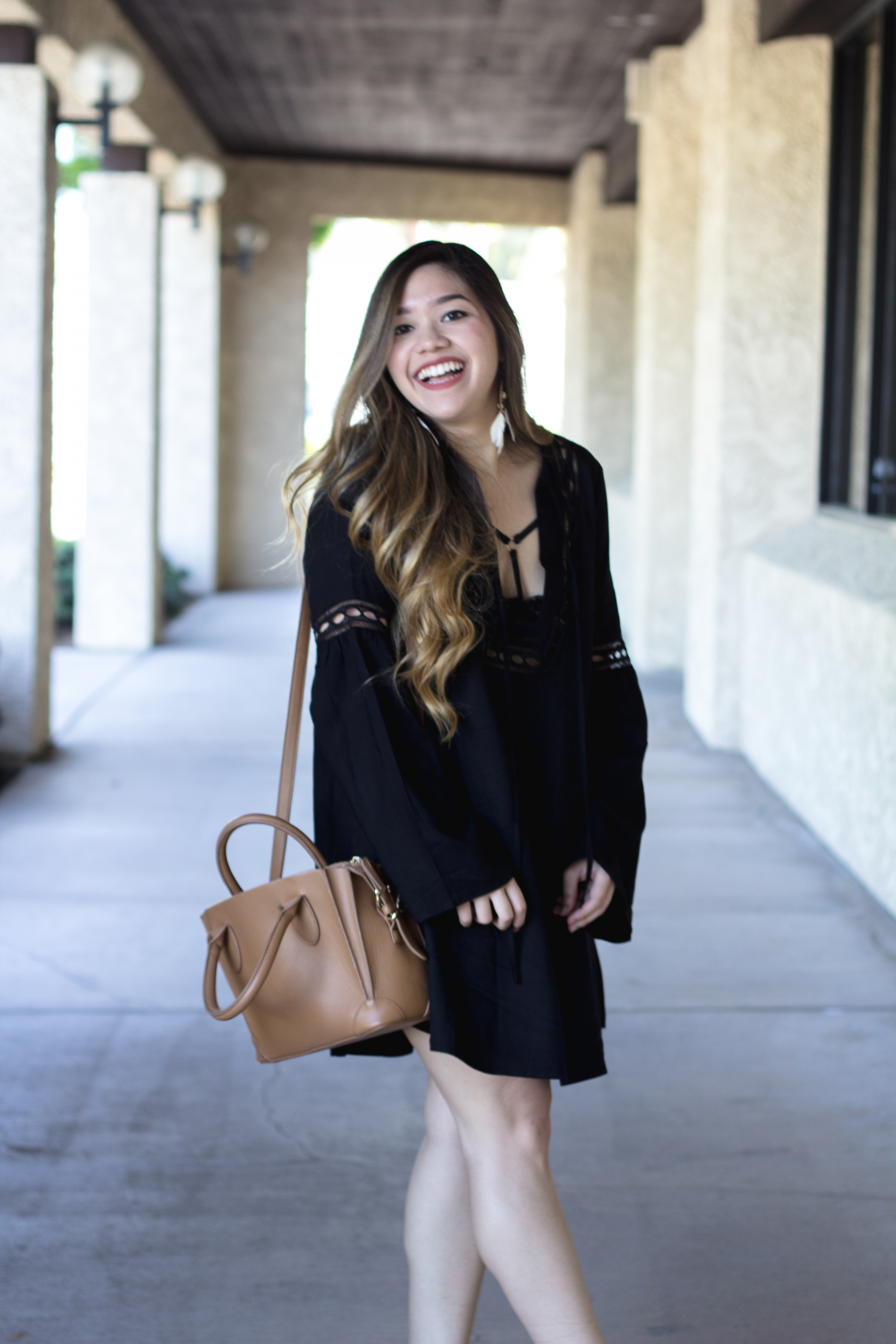 Black Boho Chic Dress