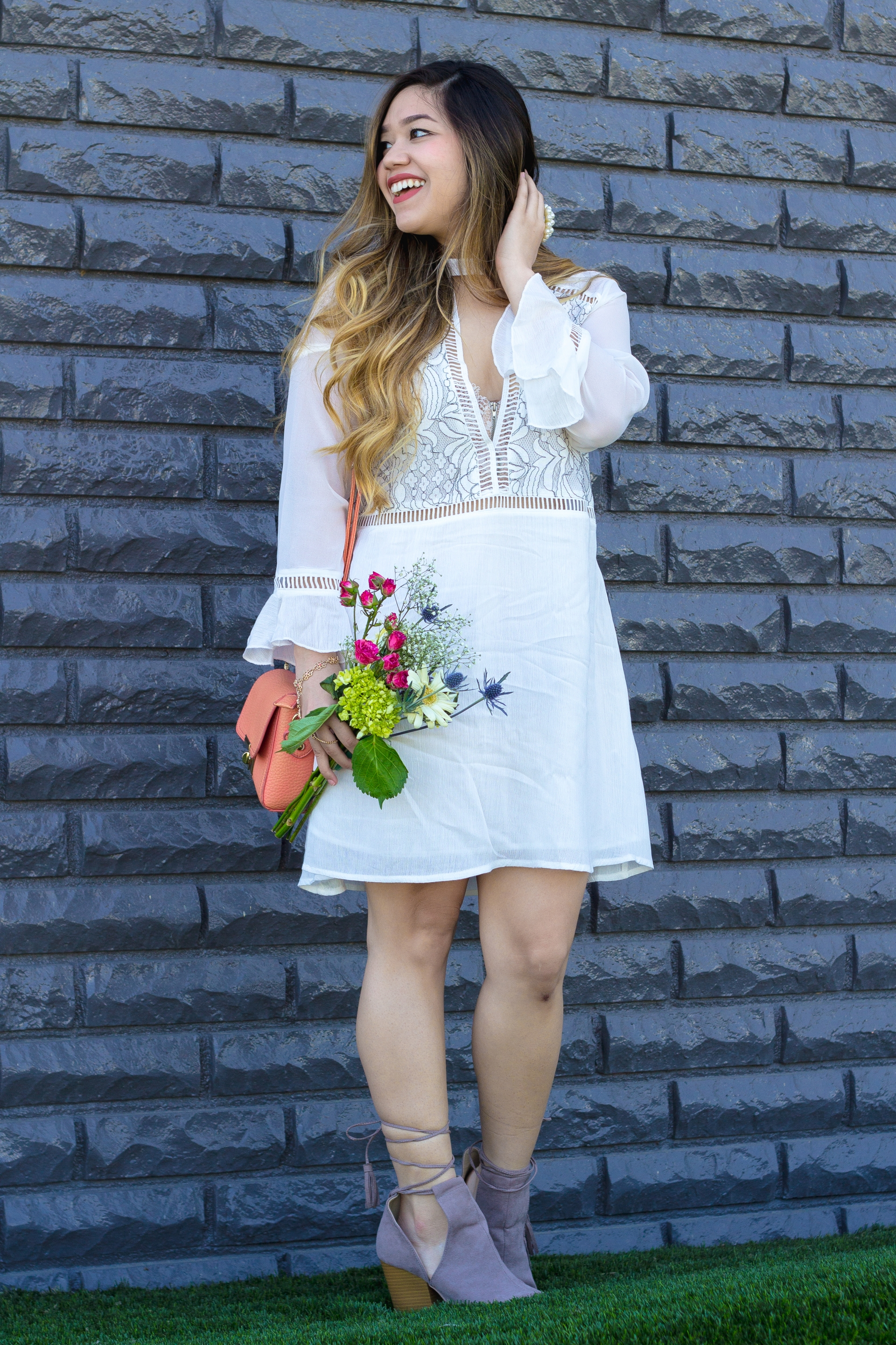 Lightweight White Dress for Spring