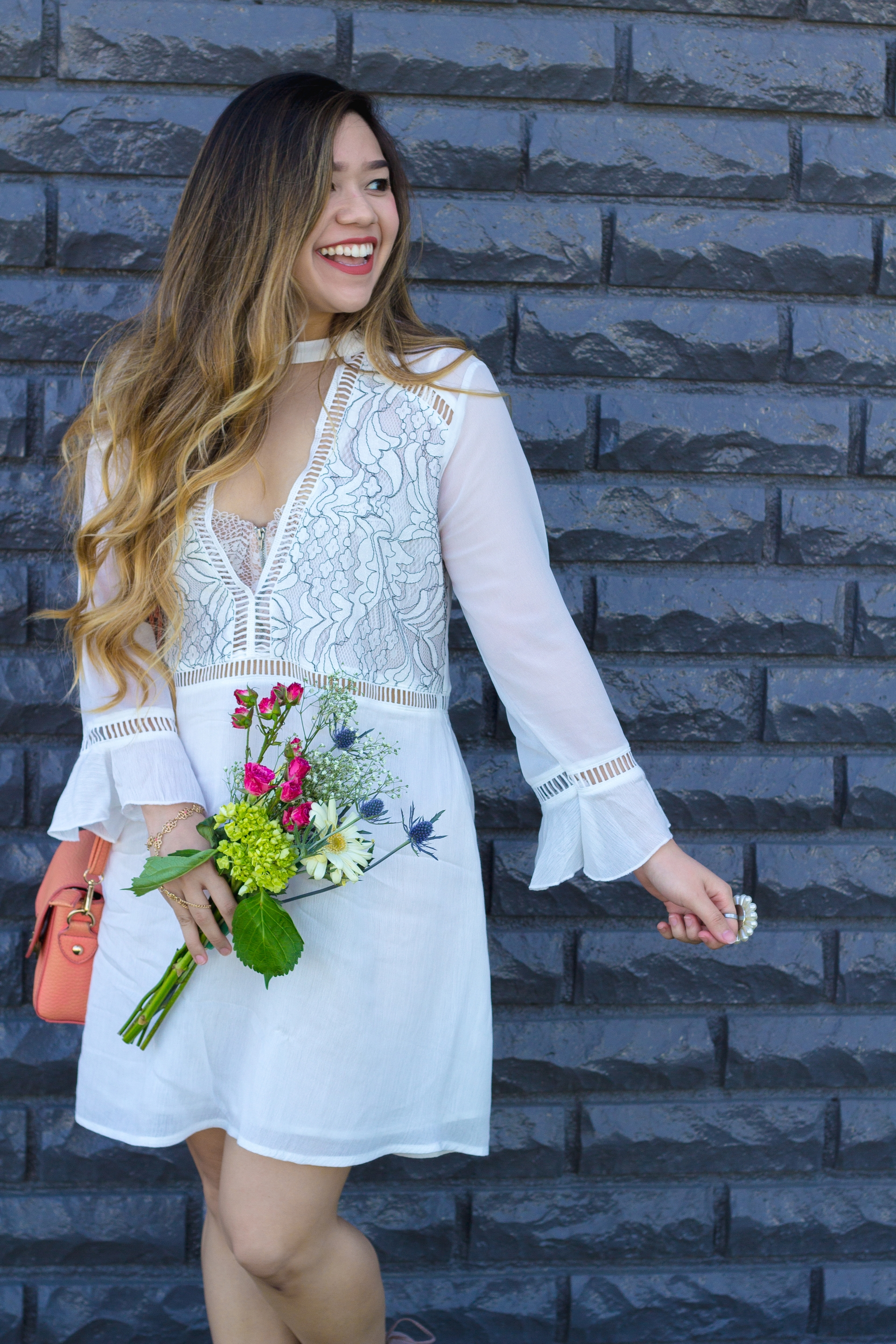 Lightweight Lace Embroidered Dress