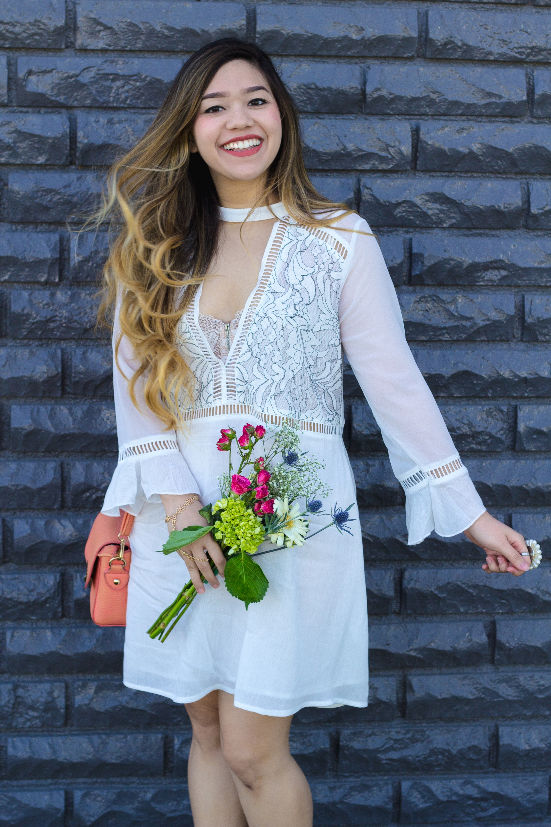 Lace Embroidery Dress