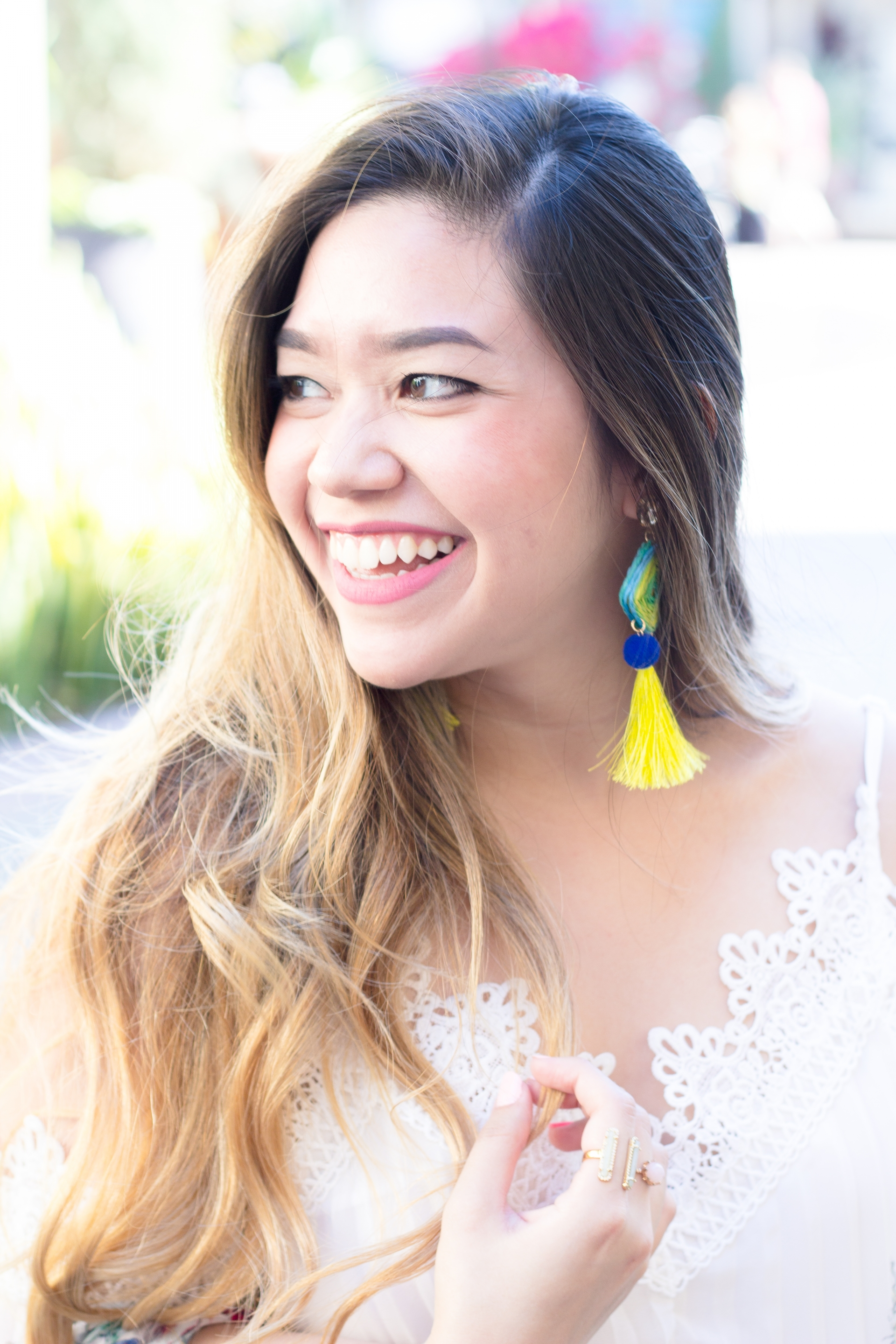 Pom Pom Tassel Earrings