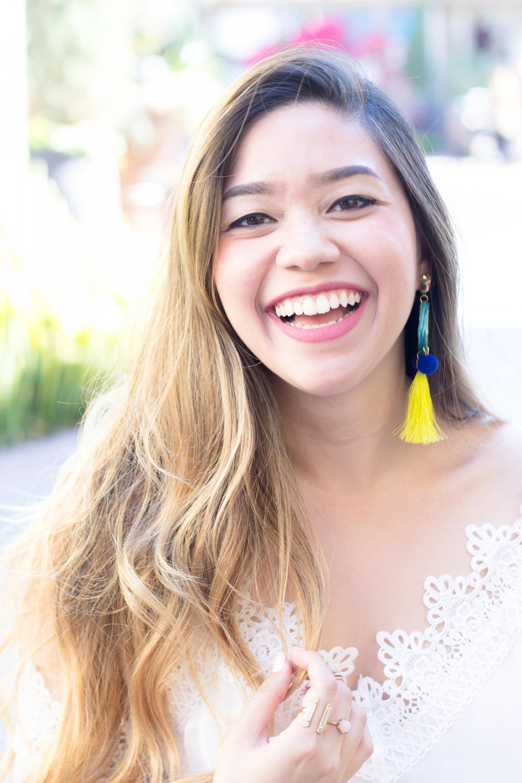 Neon Pom Pom Tassel Earrings