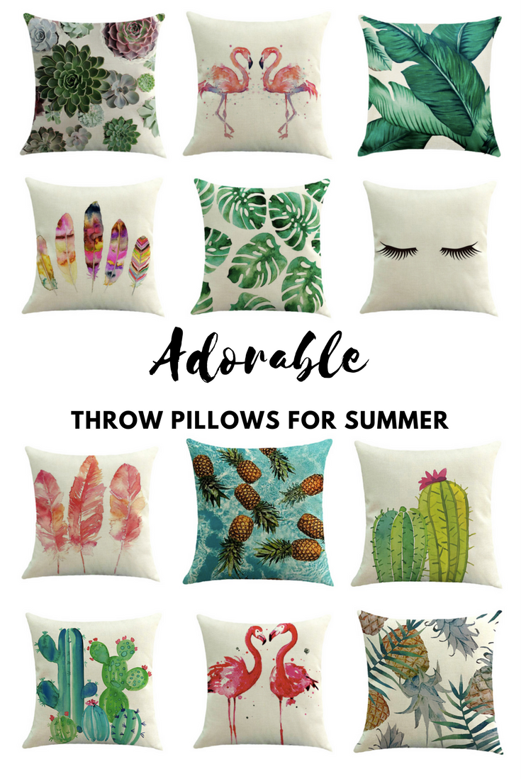 Adorable Throw Pillows for Summer