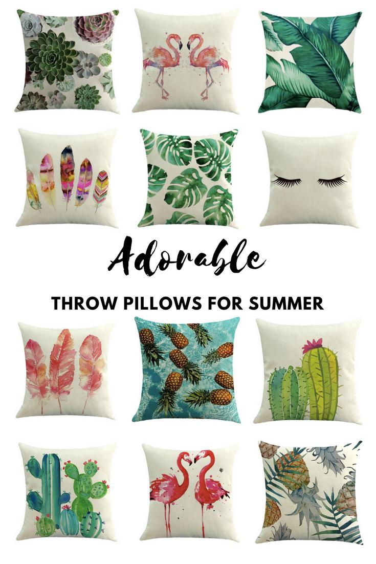 Adorable Throw Pillows for Summer