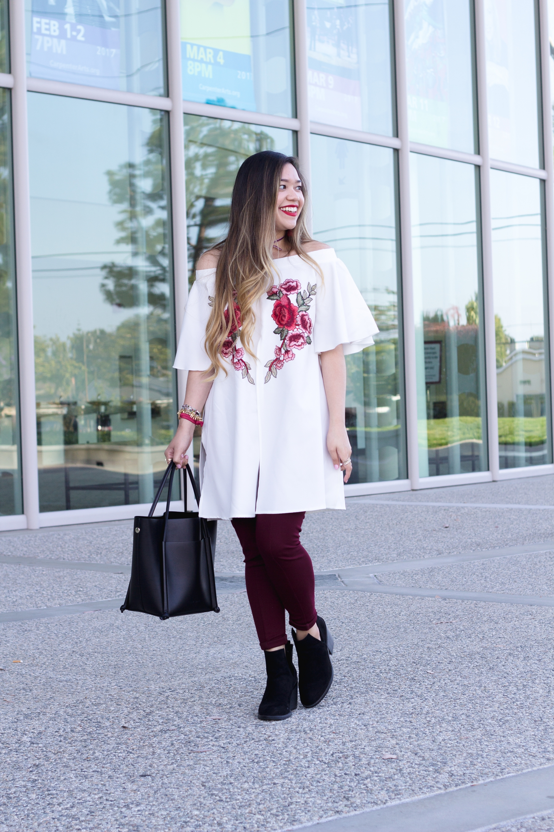 OTS embroidered floral tunic