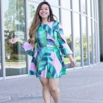 Girly Palm Print Dress