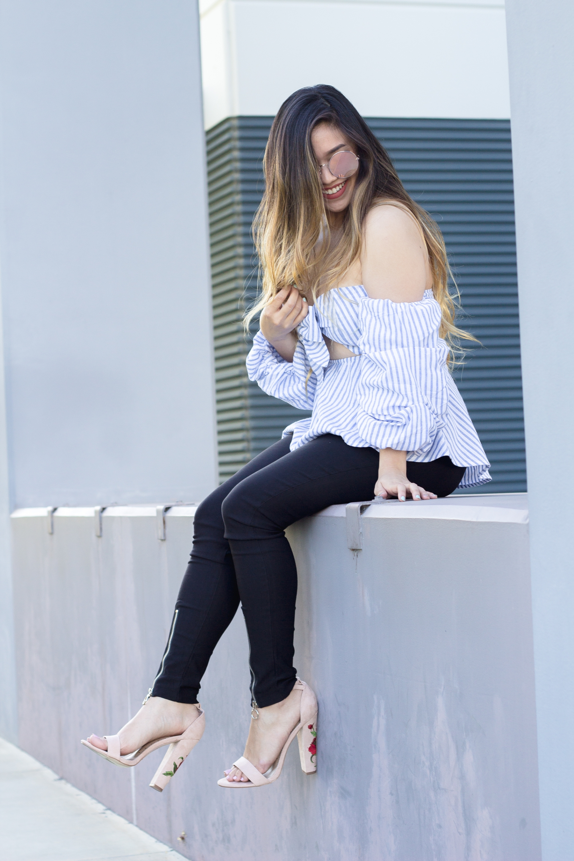 Off Shoulder Bow Blouse