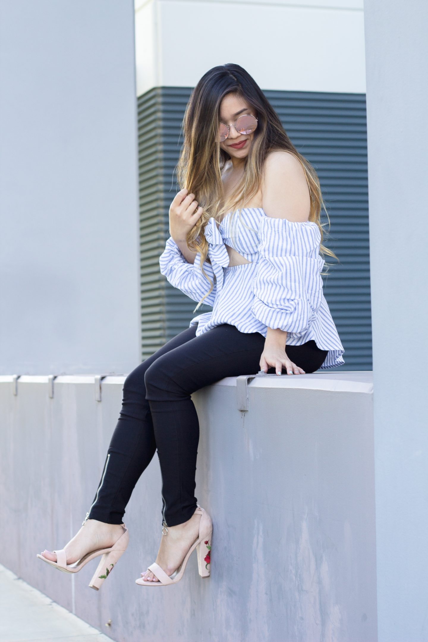 Striped Peplum Bow Top + $1000 Nordstrom Anniversary Sale Giveaway