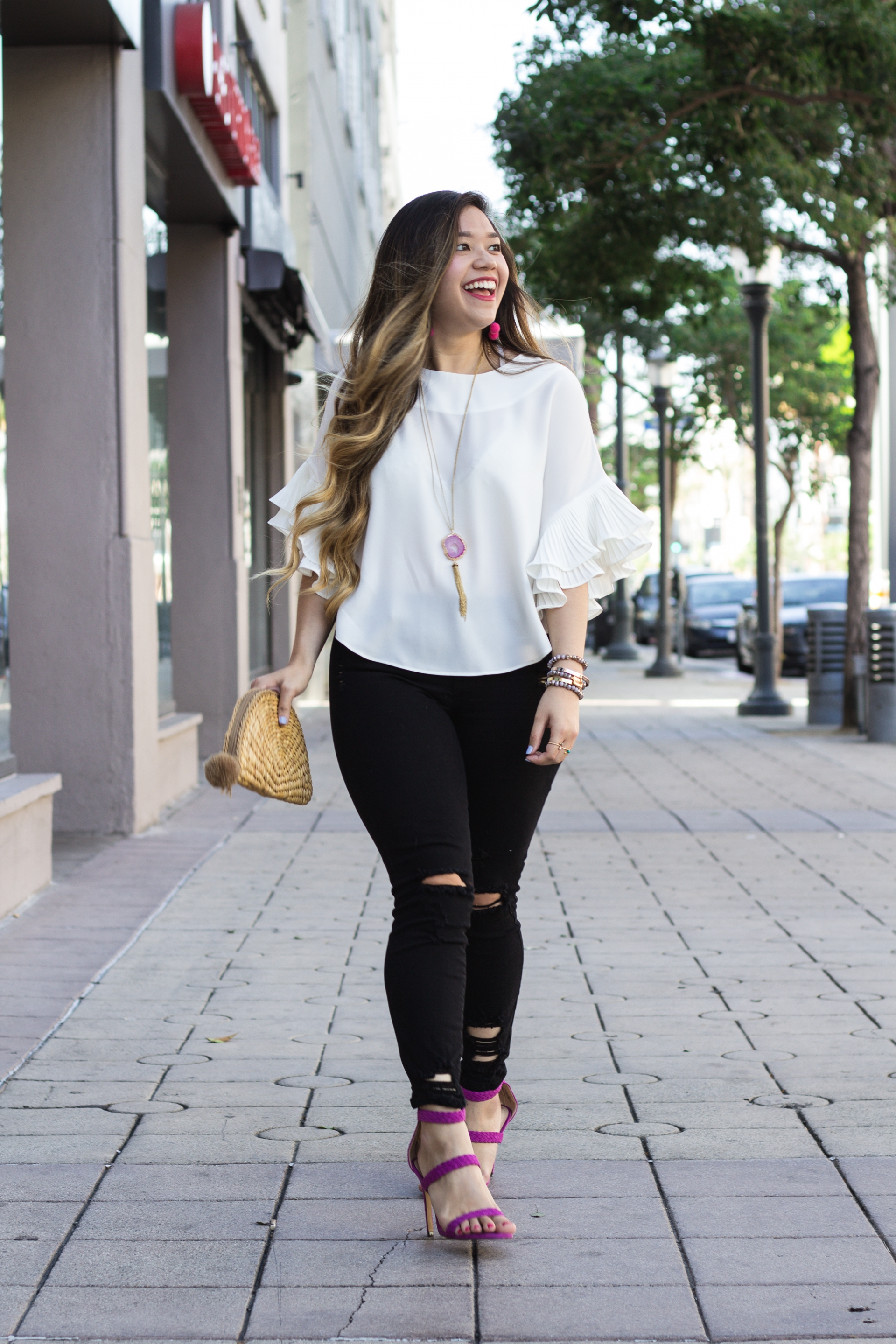 chic-white-ruffle-sleeves-top