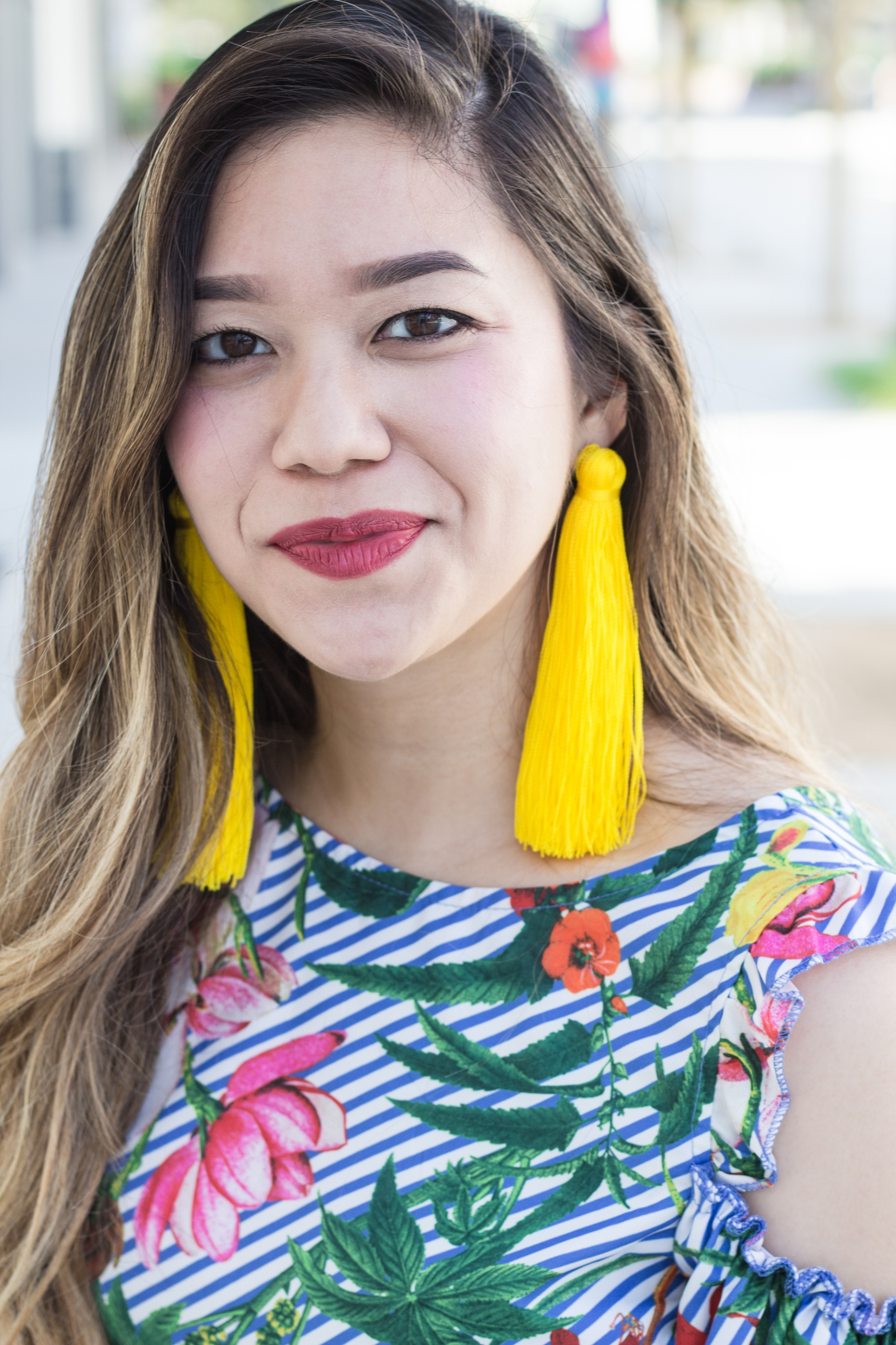 Bright-Neon-Yellow-Tassel-Statement-Earrings