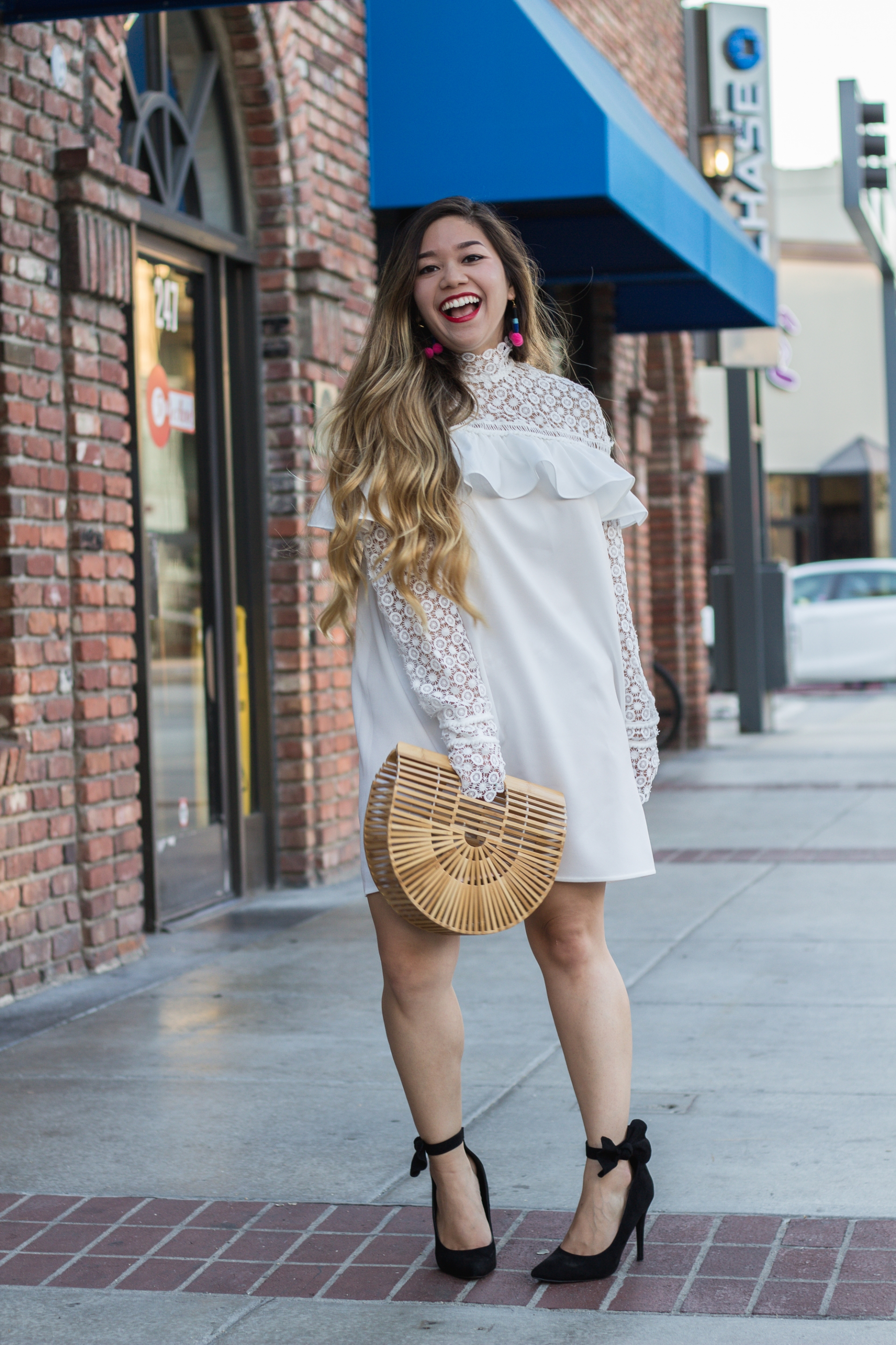 white-lace-frill-ruffle-dress