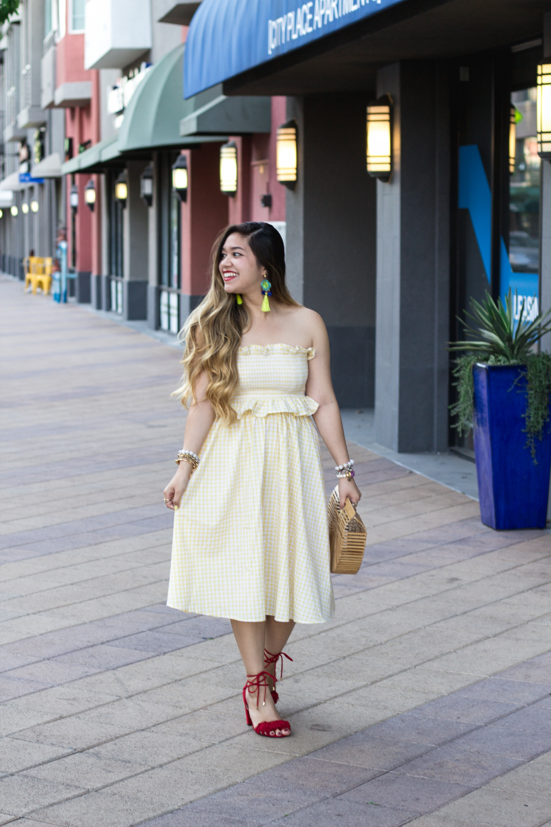 pastel-yellow-bandeau-with-midi-skirt-set