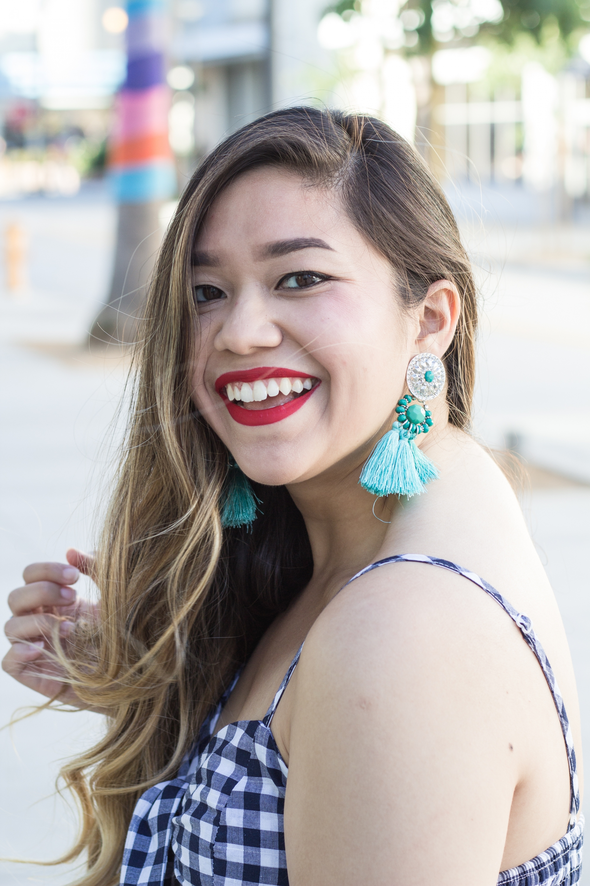 Charming-Charlie-H&M-Tassel-Earrings-Blue