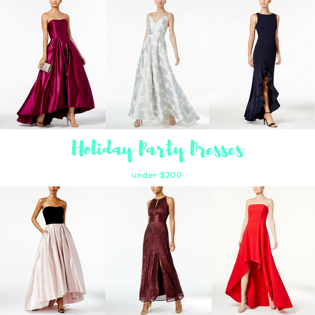 Holiday Party Dresses Under $200