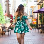 Affordable Palm Print Outfits Under $25 $50 Palm Print Off The Shoulder Romper Jumpsuit Dress Two Piece Matching Set Co Ord Set Cult Gaia Dupe Bamboo Bag Ark Luna Lilleth