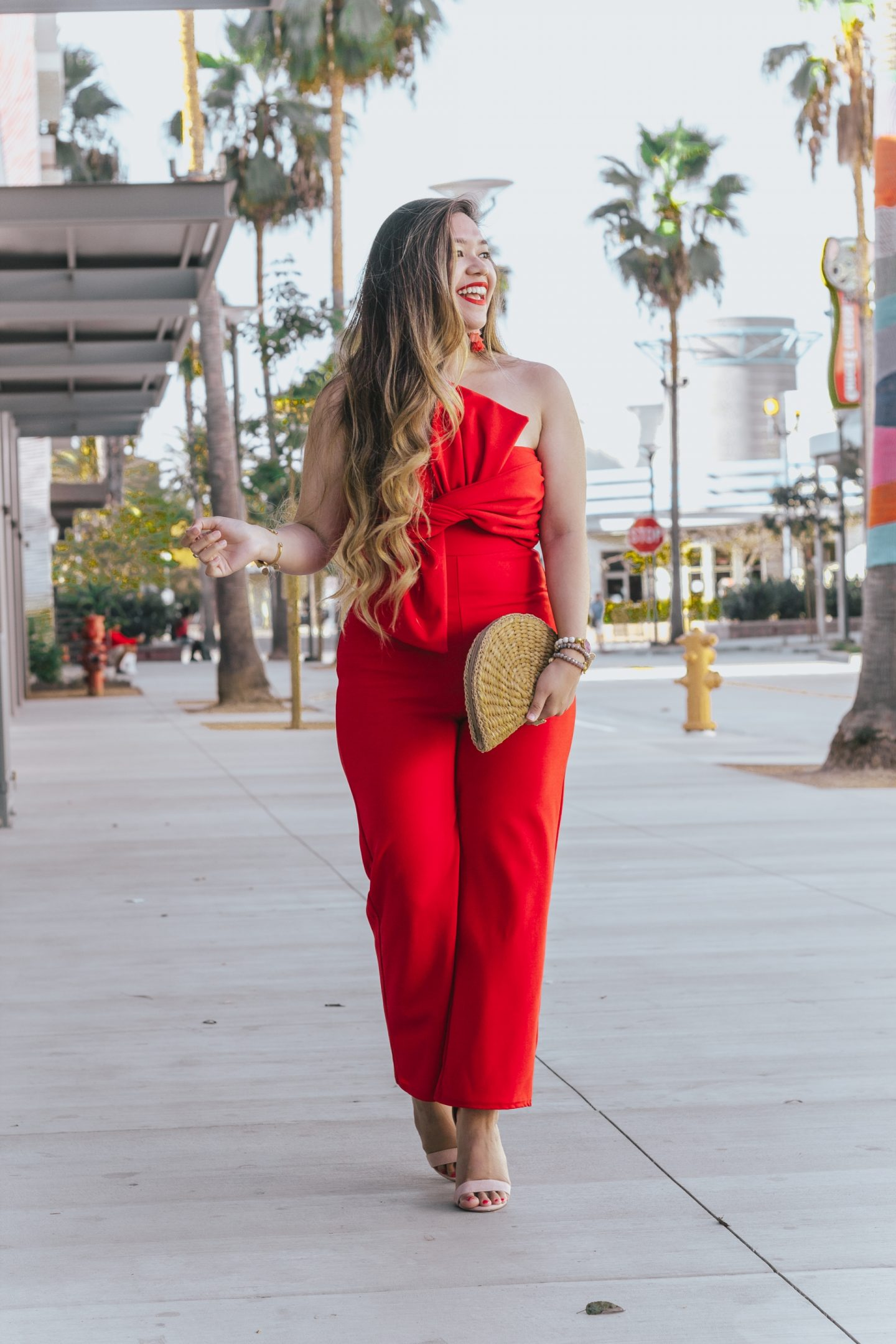 The Most Extravagant Statement Bow Front Jumpsuit