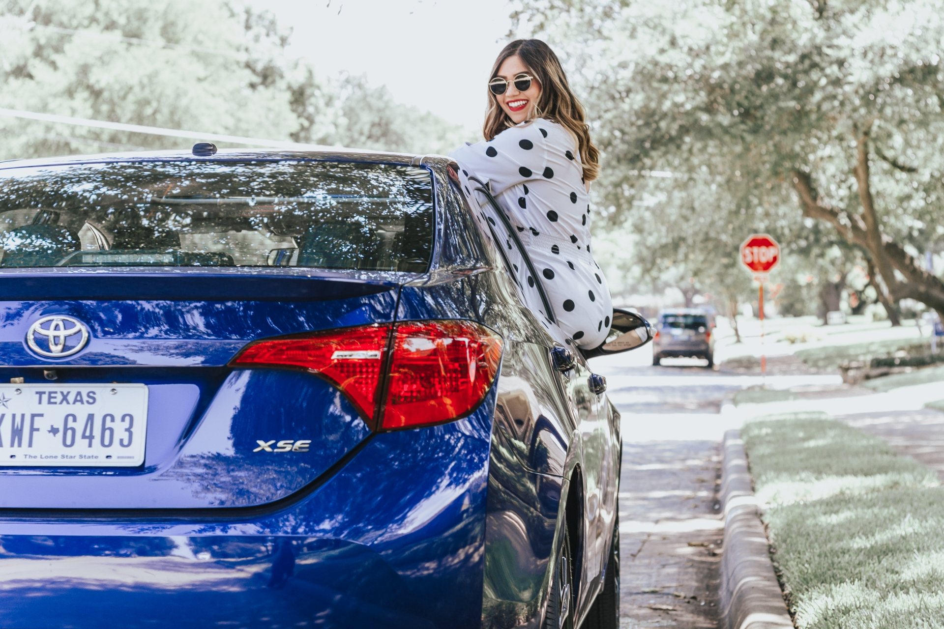 2018 Toyota Corolla XSE Car Review NA-KD Polka Dot Cut Out Detail Playsuit Romper Diffeyewear Daisy Sunglasses Straw Hat