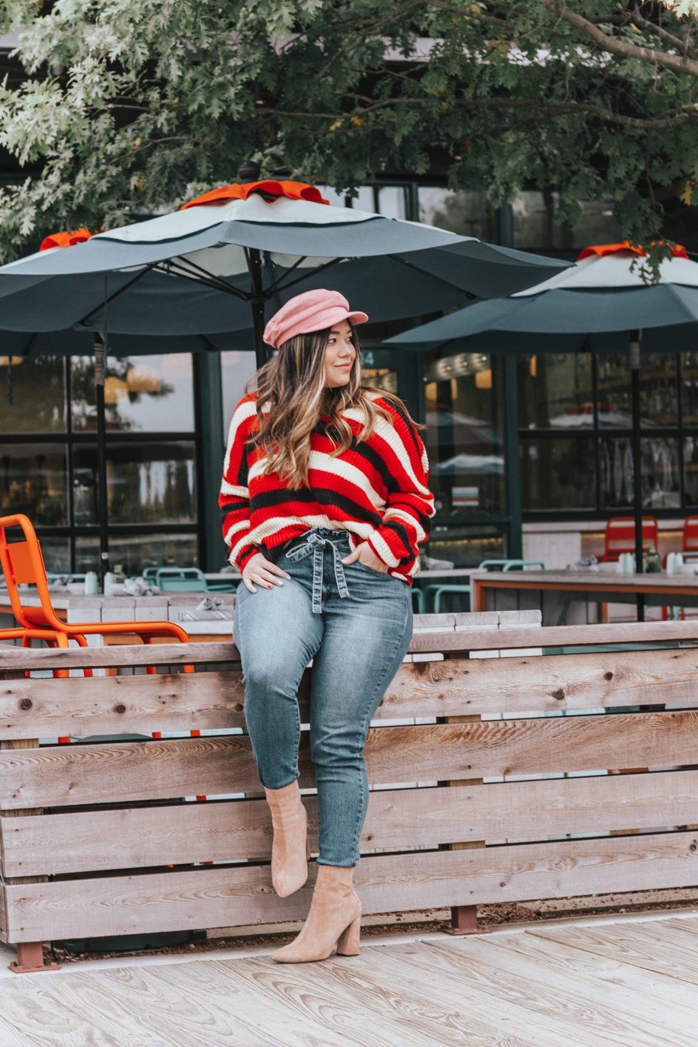 How to Style Paperbag Waist Denim Jeans