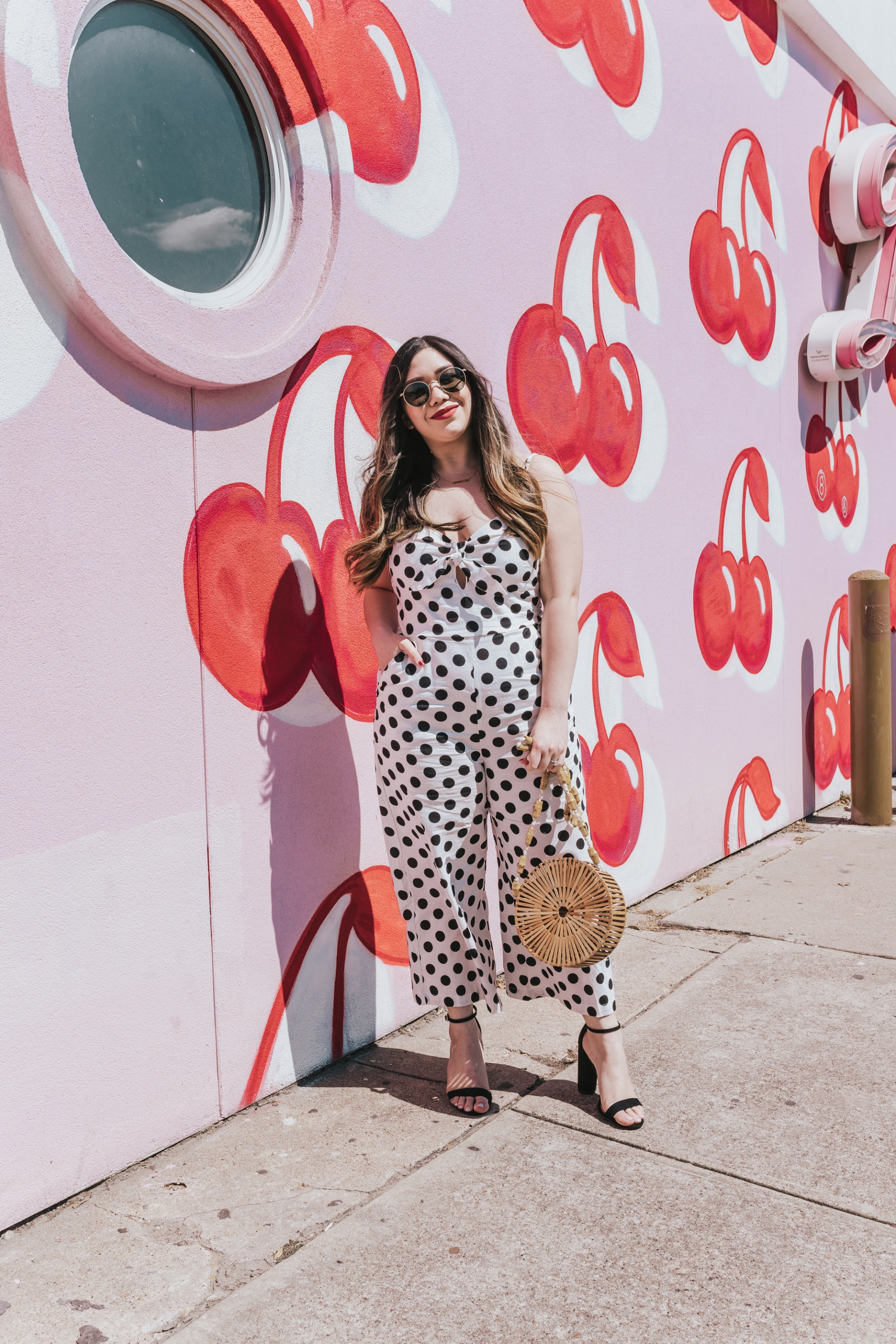 The Pink Lily Boutique Amazing Moments Jumpsuit Nordstrom Sam Edelman Yaro Ankle Strap Sandals Black Heels Cult Gaia Dupe Circle Bamboo Bag Round Bamboo Bag Colourpop Bumble Matte Lipstick Round Sunglasses Retro Sunglasses Amazon Finds